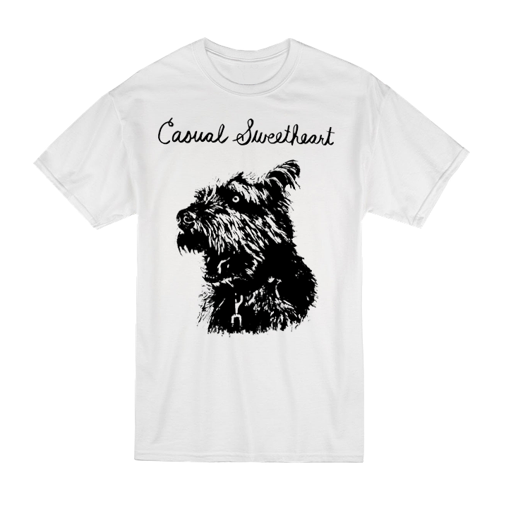 tshirt with scruffy dog